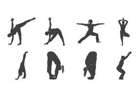 vettore di sagoma yoga
