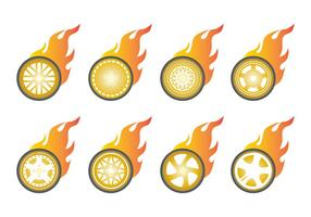 Burn Wheels Icon Vector gratuito