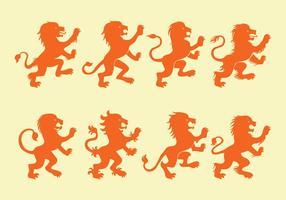 icone leone rampante vettore