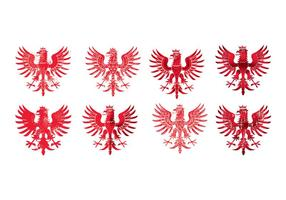 National Arms of America Polonia Eagle vettore
