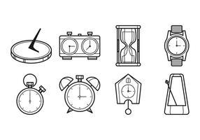 Orologio icona vettoriale