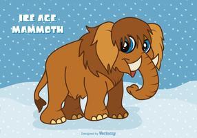 Vettore di mammut del fumetto libero di era glaciale
