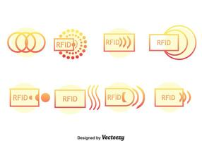 Rfid icone vettoriali