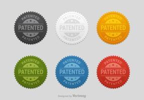 Set vettoriale gratuito di sigilli brevettati