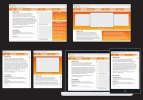 web adattivo arancione vettore