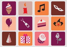 Icona di compleanno 16 dolce vettore