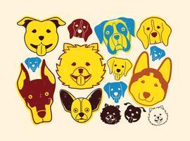 Icona di cani vettore