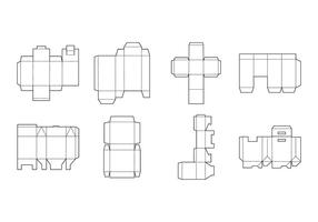 Packaging modello vettoriale