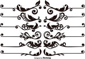 Set di divisori di testo ornamentale vettoriale