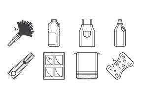 Vettore libero dell'icona dello strumento di pulizia