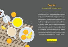 Mimosa Modello di pagina web vettore