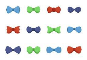 Vettore delle icone di cravatta a farfalla