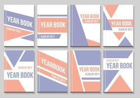 Vettore di layout annuario gratuito