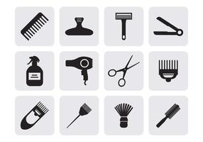 Vettore delle icone di lavoro di parrucchiere