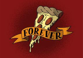 pizza per sempre banner vettore