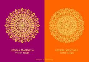 disegni di mandala di hennè vettoriale