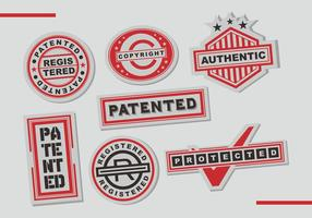 Bolli di brevetti Arte vettoriale