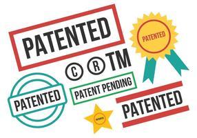 Vettore libero del bollo di brevetto