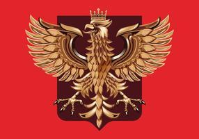 Vettore di stemma polacco di intaglio del legno