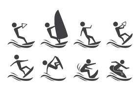 Vettore di sport acquatici gratis