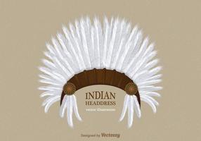 Vettore gratuito di copricapo indiano