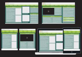 web adattivo verde vettore