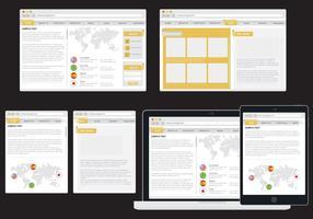 Web adattivo minimalista vettore