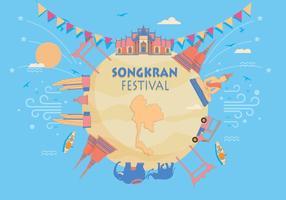 vettore del festival songkran