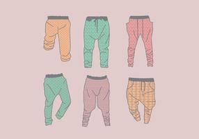 vettore di motivi di pantaloni della tuta