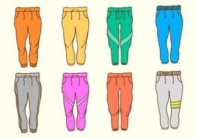 Pantaloni della tuta gratuiti vettore