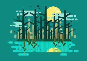 Illustrazione vettoriale di palude