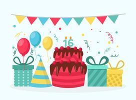Vettore di festa di compleanno