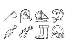 Vettore dell'icona di pesca