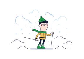 Vettore di sci gratuito