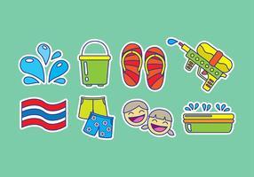 Icone di Songkran vettore