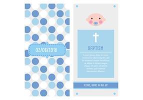 invitación bautizo (niño) vettore