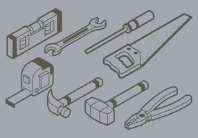 Icona di strumenti fai-da-te isometrica vettore