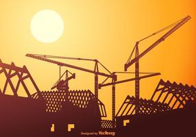Tetti vettoriali gratis in costruzione