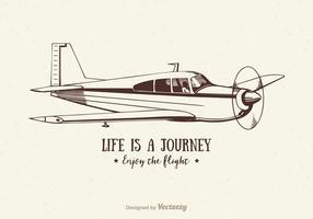 Illustrazione di aeroplano dell'annata vettoriali gratis
