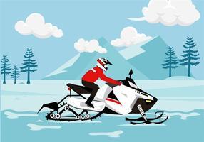 vettore gratuito di neve mobile