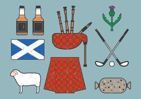 Collezione di viaggi in Scozia vettore