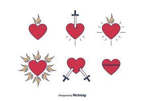 Sacro cuore vettoriale