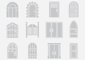 Vettori di portale porta grigia
