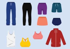 Vettori di tuta e pantaloni sportivi