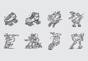 Icona Roller Derby vettore