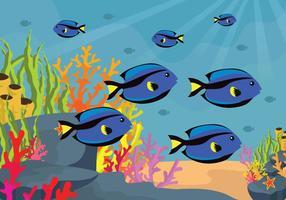 Illustrazione gratuita di fondali marini vettore