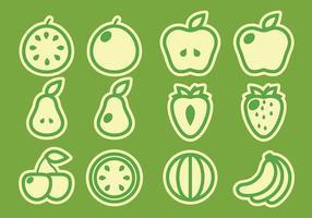 Confezione di vettori di frutta