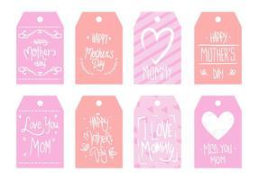 Festa della mamma Tag vettoriale gratuito