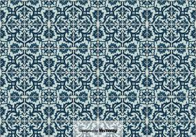 Vector sfondo di piastrelle portoghesi Azulejos,