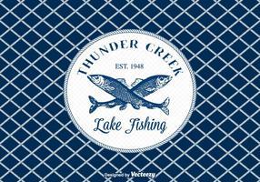 Sfondo vettoriale di pesca gratis